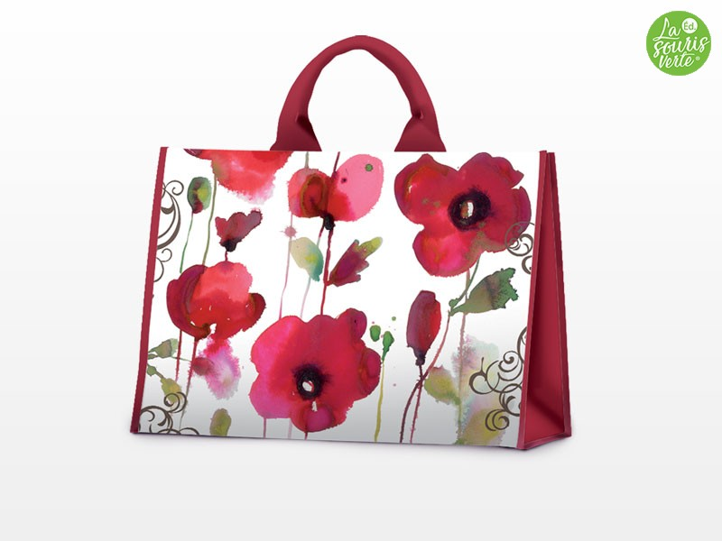 Sacs Shopping Star Coquelicots