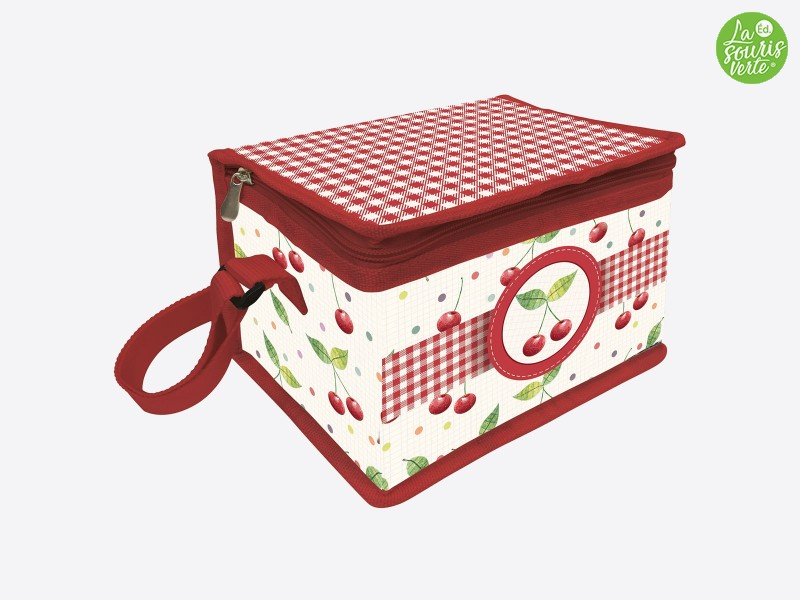 "Lunch bag ""Rouge Cerise"""