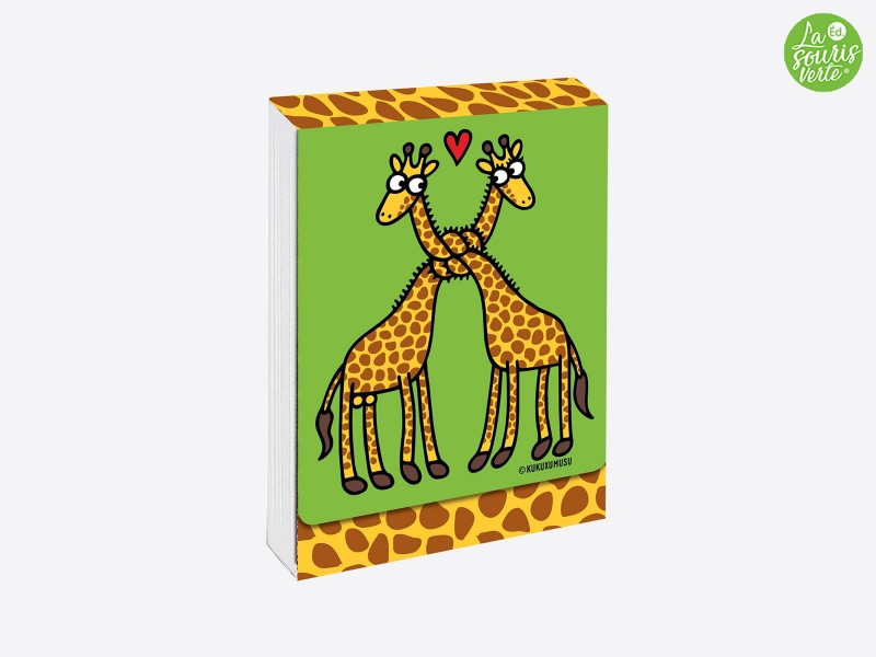 "Pocket note ""Coeur de girafes"""