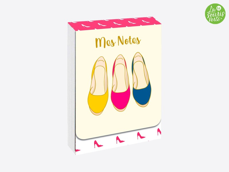 "Pocket note ""Shoes"""