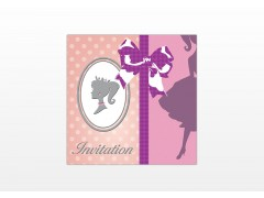 "Carte Invitation Anniversaire ""Princesse"""
