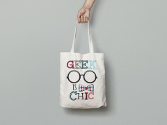 "Tote bag ""Geek is chic"""