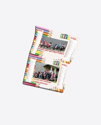 Calendrier Plaquette 12 pages A4 LUXE