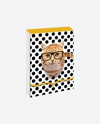 "Pocket note ""Intello cat"""