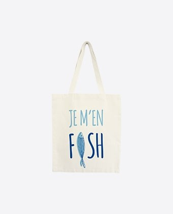 "Tote bag ""Je m'en fish"""